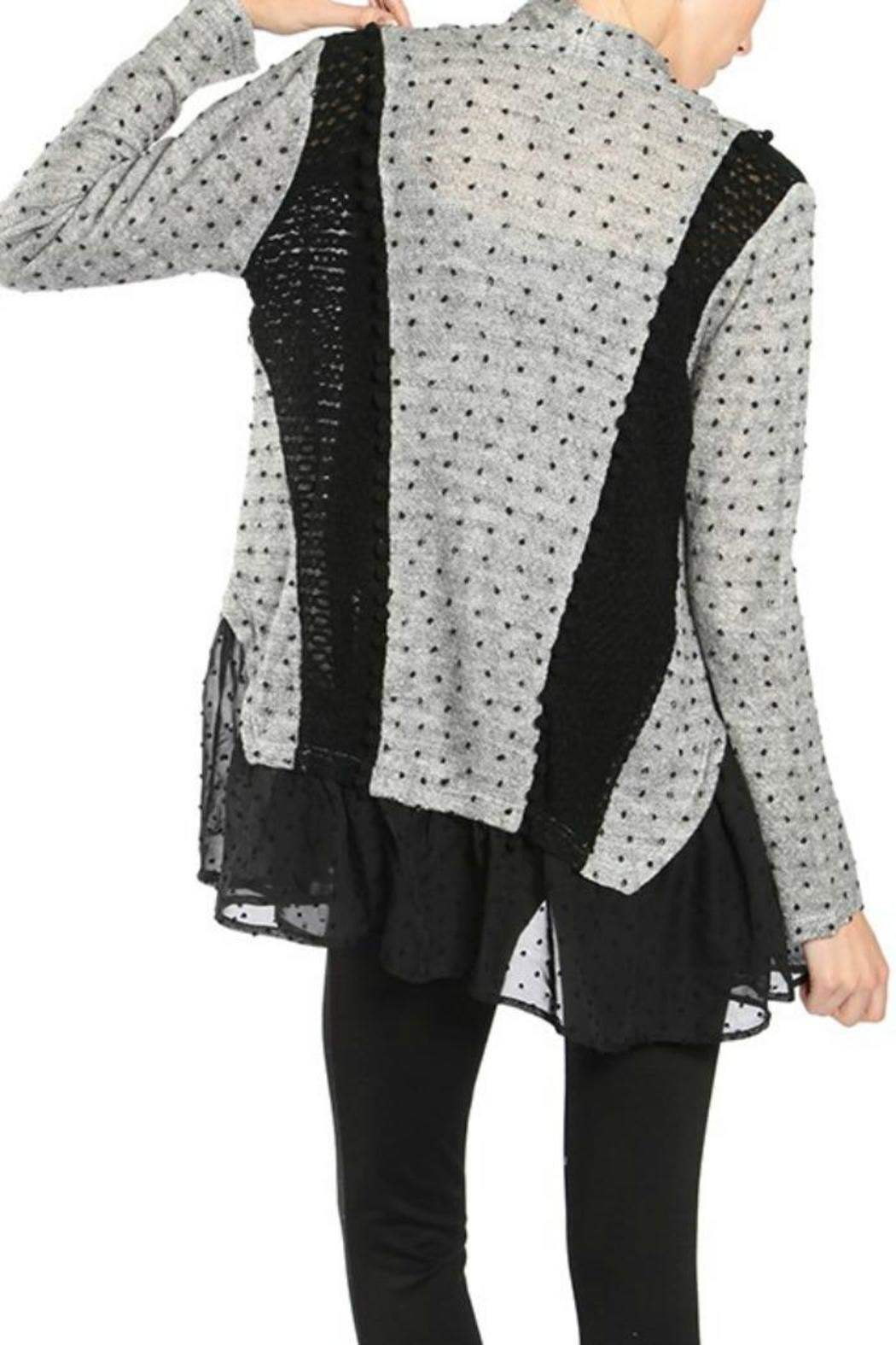 Ryu Dotted Lace Cardigan - Front Full Image