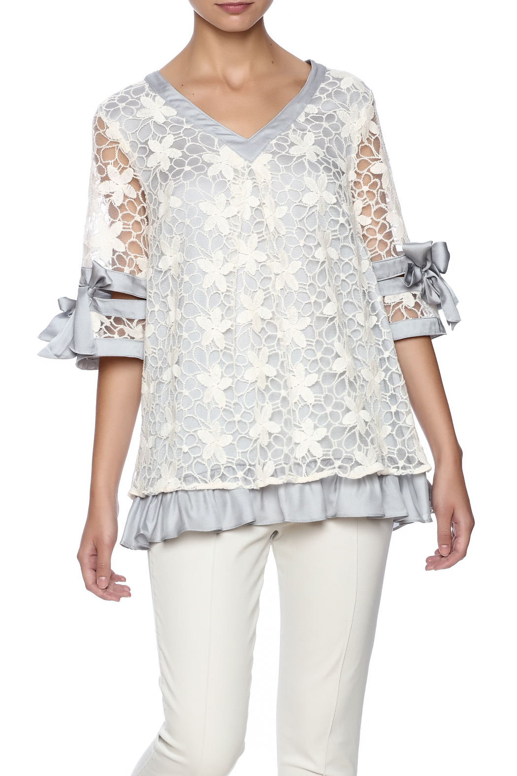 Ryu Dreamy Lace Overlay Top - Main Image