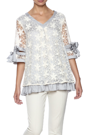 Ryu Dreamy Lace Overlay Top - Product Mini Image