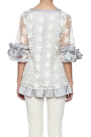 Ryu Dreamy Lace Overlay Top - Back cropped