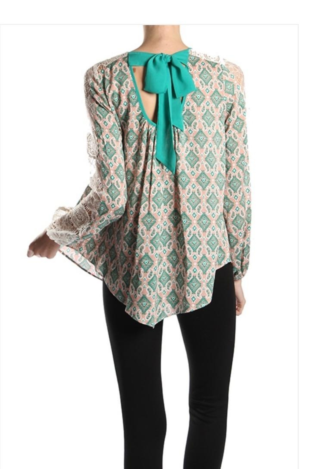Ryu Ethnic Print Top - Front Full Image