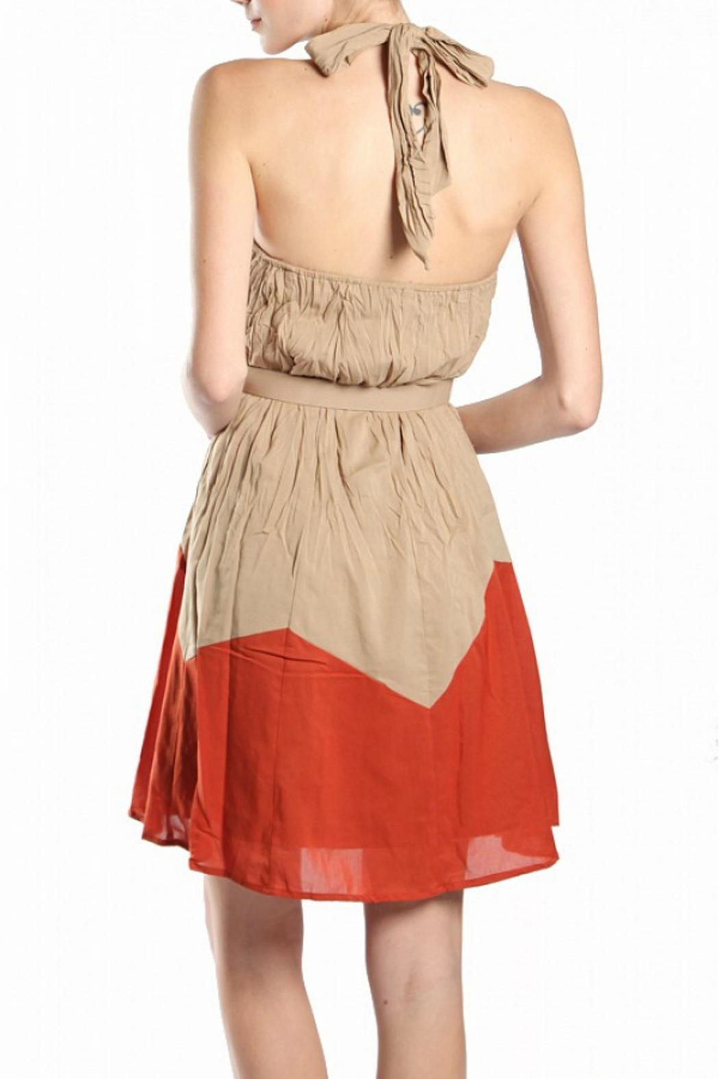 Ryu Halter Cocktail Dress - Back Cropped Image