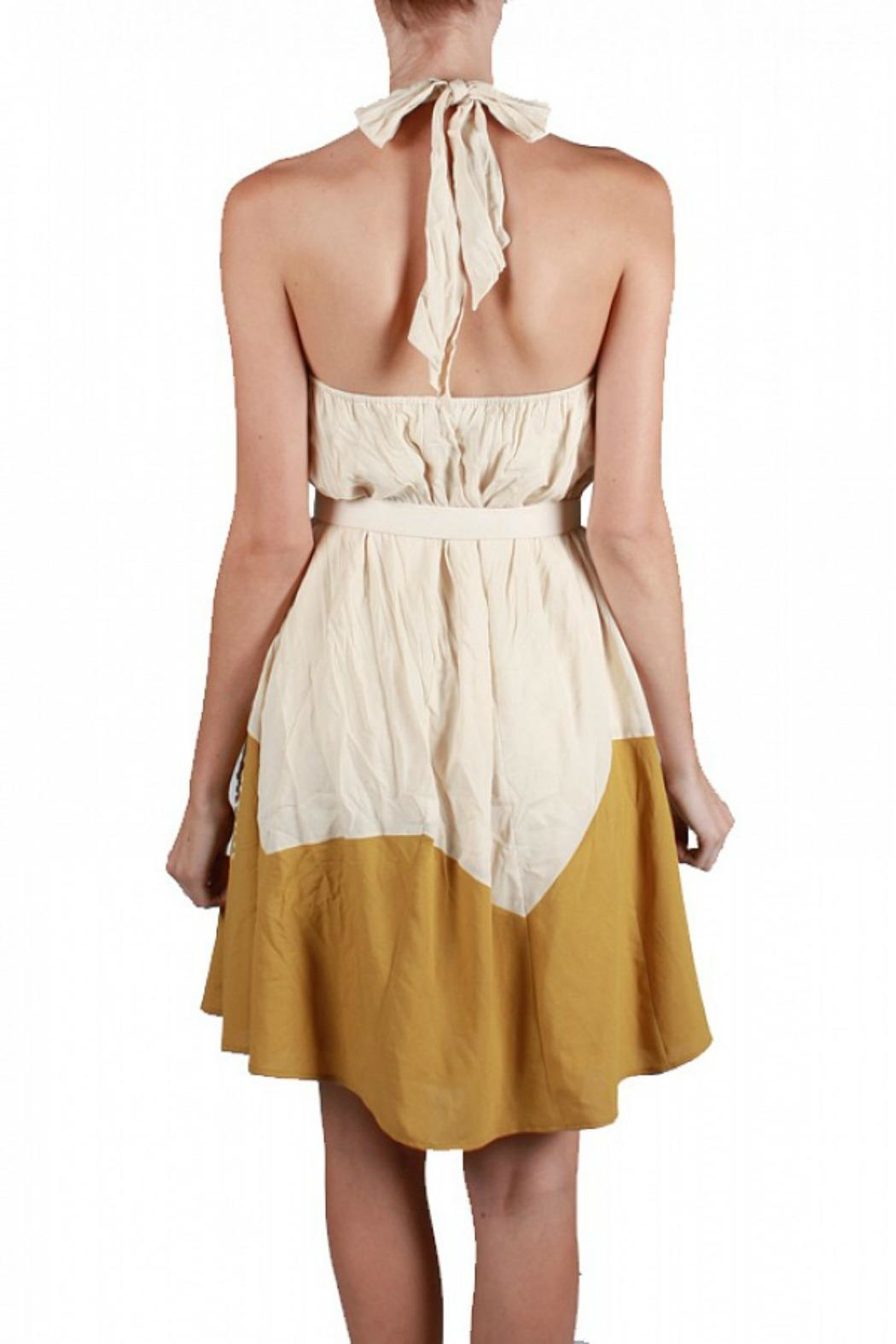 Ryu Halter Cocktail Dress - Side Cropped Image