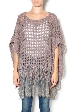 Shoptiques Product: Lace Bottom Poncho Sweater