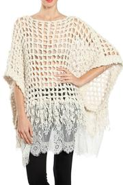 Ryu Lace Poncho Sweater - Product Mini Image