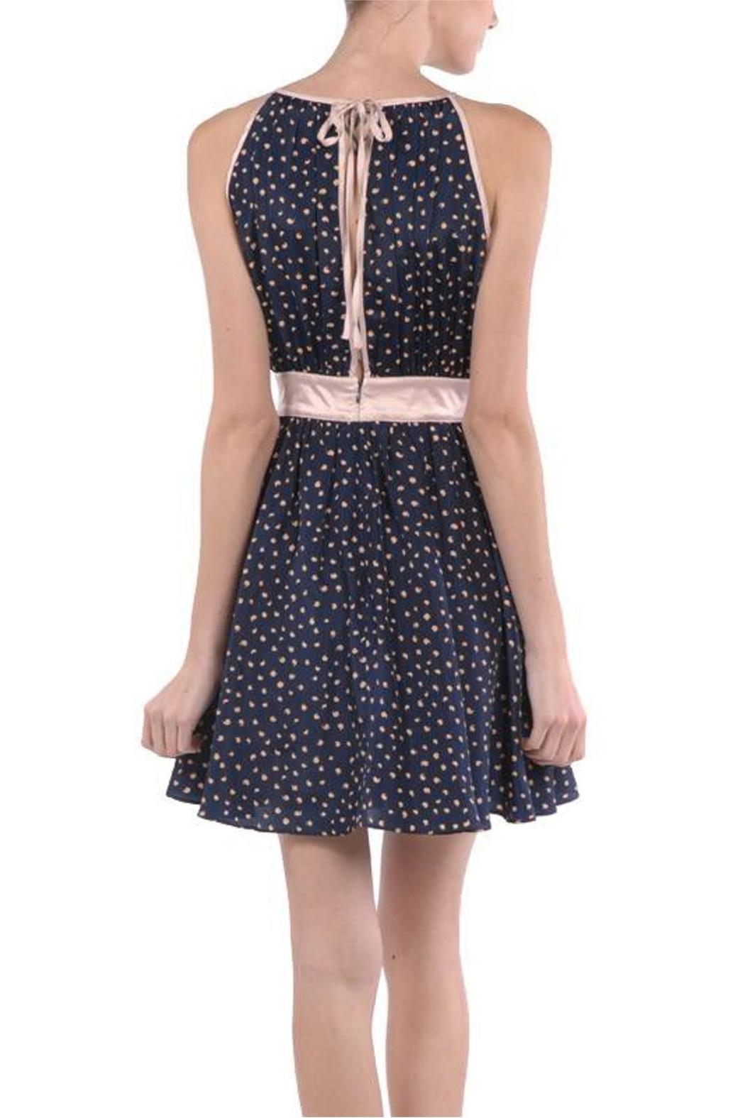 Ryu Navy Rose Dress - Front Full Image