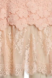 Ryu Peach Lace Sweater - Side cropped