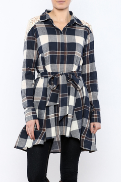 Shoptiques Product: Plaid Lace Tunic