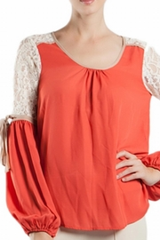 Ryu Ribbon Sleeve Top - Front cropped