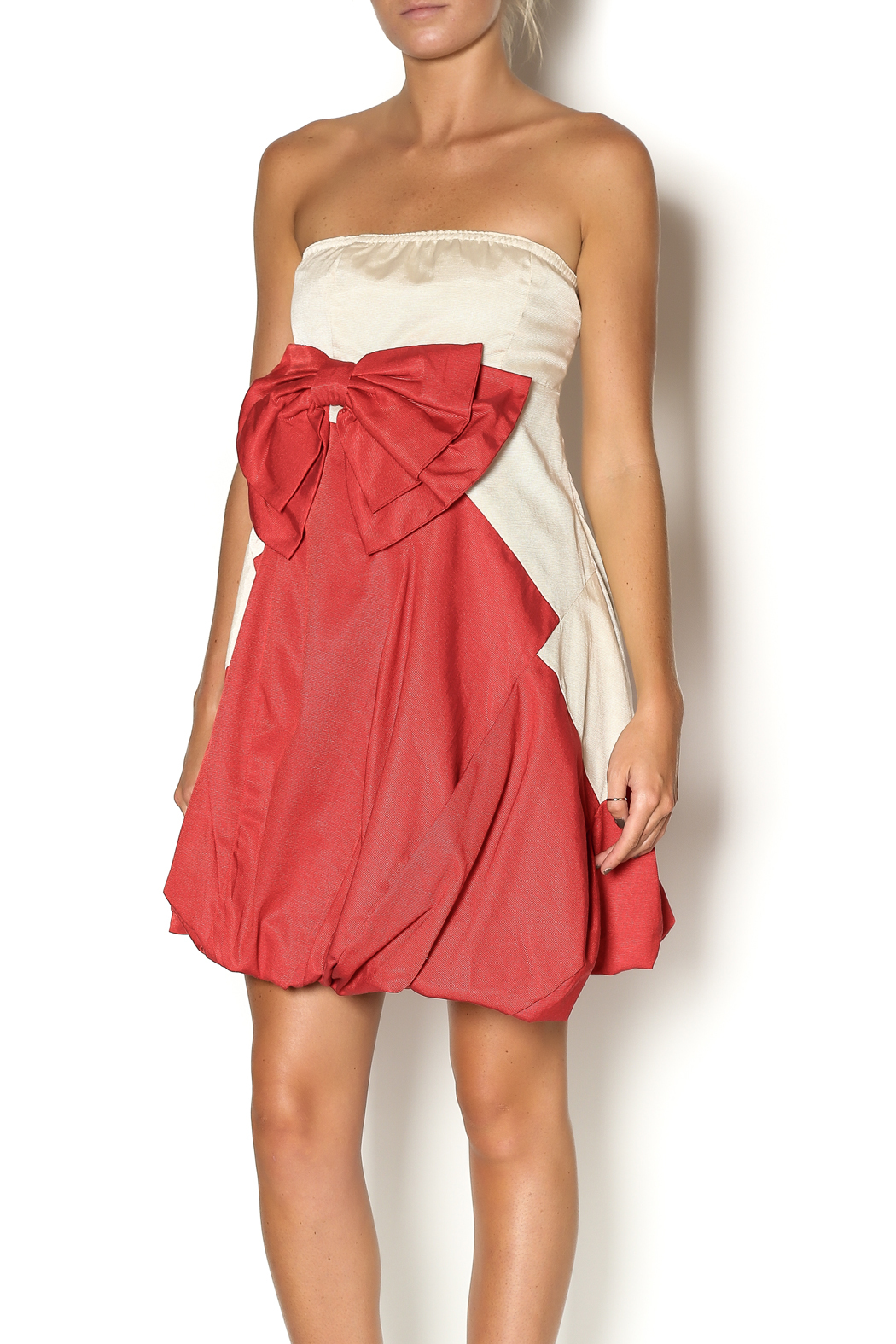 Ryu Strapless Dress - Front Cropped Image