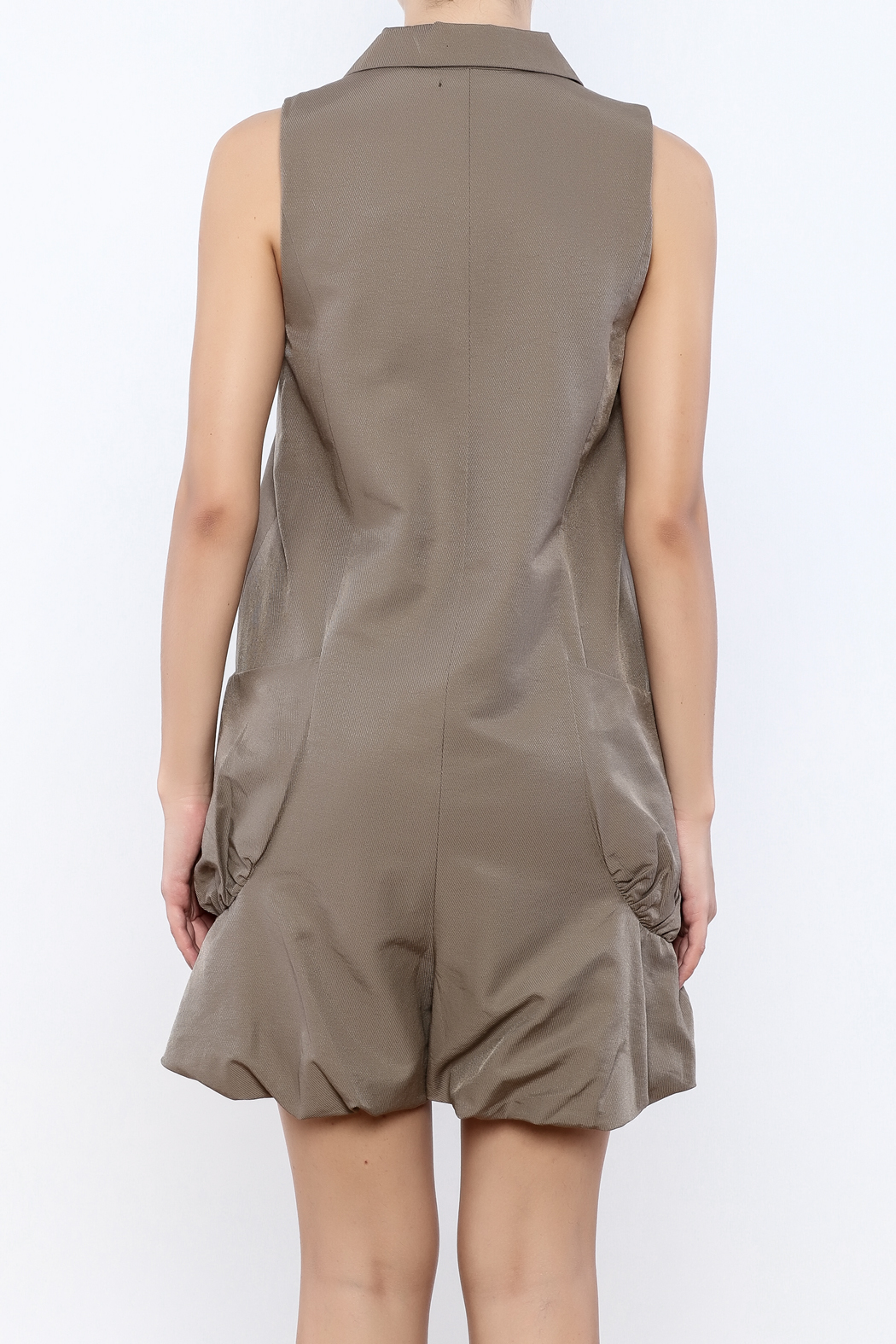 Ryu Taupe Romper - Back Cropped Image