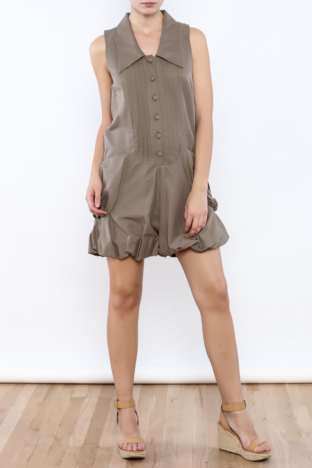 Ryu Taupe Romper - Front Full Image