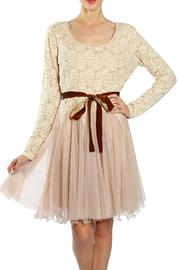 Ryu Taupe Tulle Dress - Product Mini Image