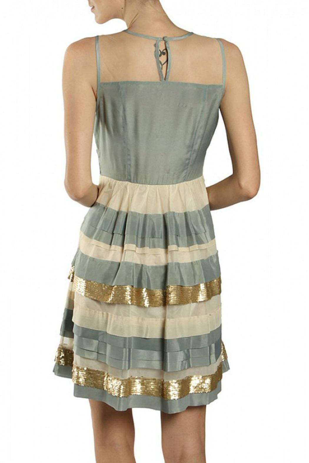 Ryu Tiered Sequin Dress - Side Cropped Image
