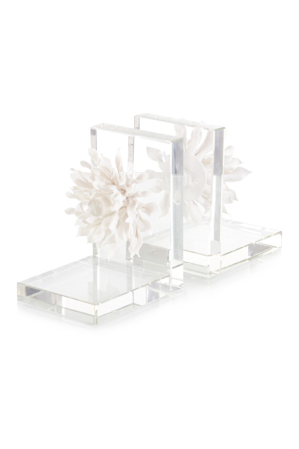 The Birds Nest S/2 PORCELAIN PETALS & CRYSTAL BOOKENDS - Main Image