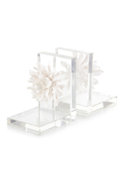 The Birds Nest S/2 PORCELAIN PETALS & CRYSTAL BOOKENDS - Front cropped