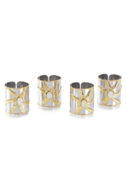 The Birds Nest S/4 MOTHER OF PEARL NAPKIN RINGS - Product Mini Image