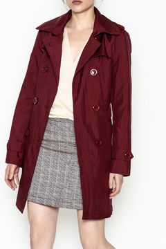 Shoptiques Product: Burgundy Crinkle Trench Coat