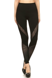 S&G Apparel Black Fishnet Leggings - Product Mini Image