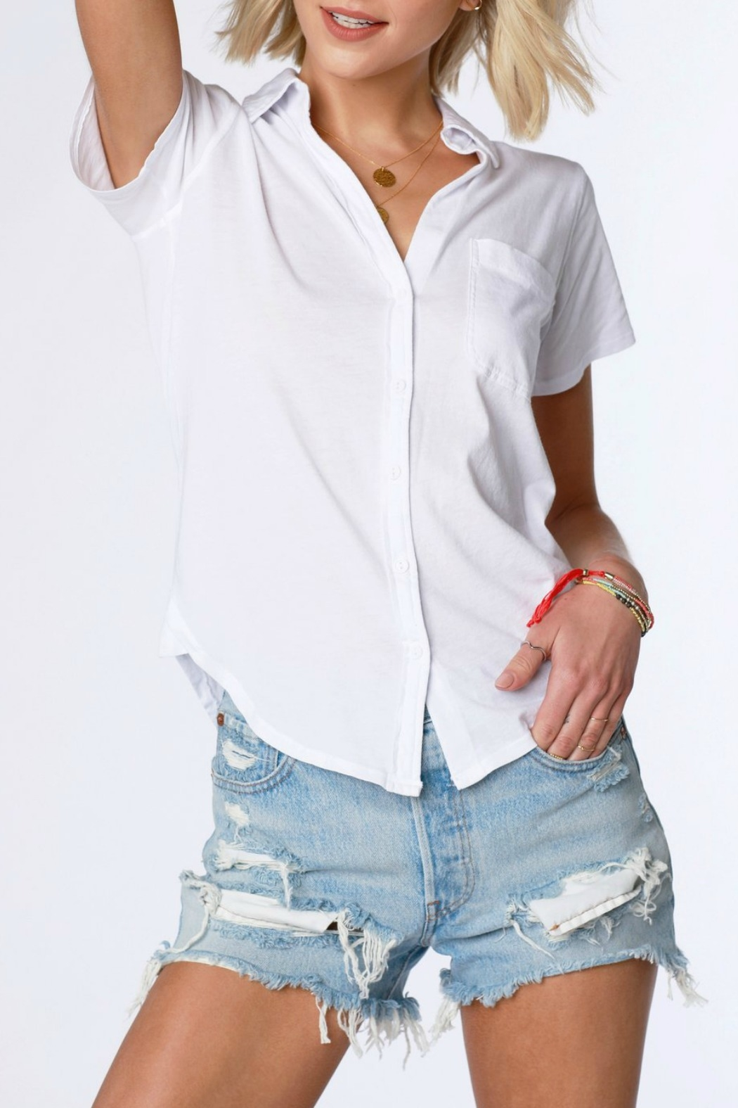 Bobi S/S Button Up Shirt - Main Image