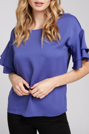 Everly S/S ruffle Top - Product Mini Image