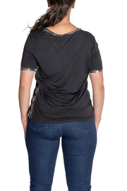 Brand Bazar S/S Top w Silver Edging - Side cropped