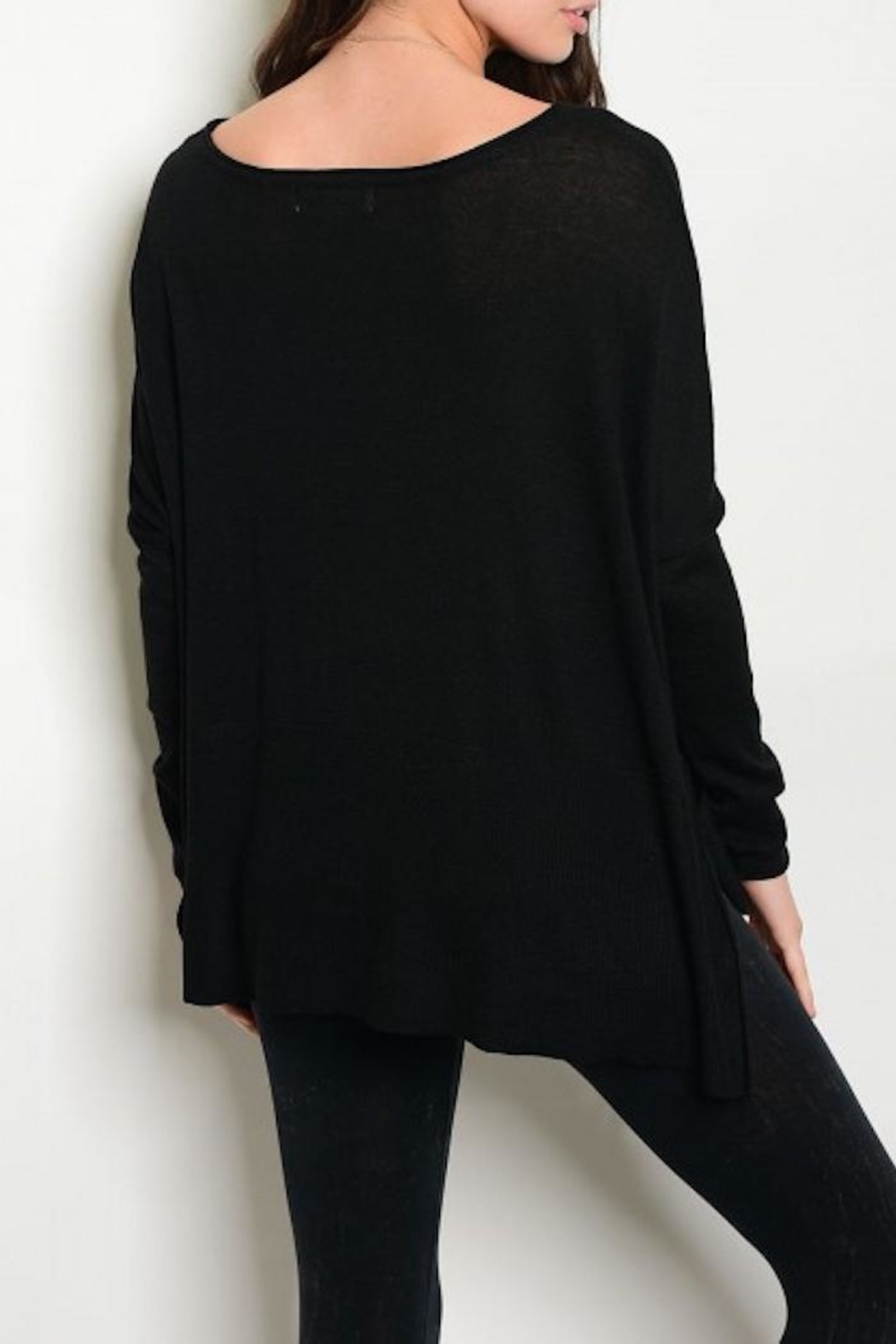 S-Twelve Black Oversized Sweater from Michigan by HUMANITY ...