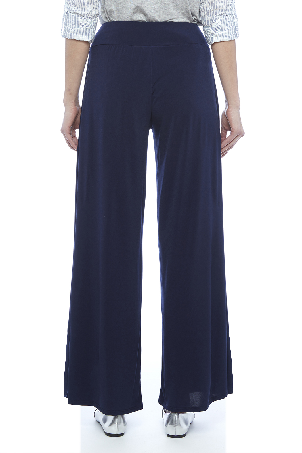 S-Twelve Palazzo Pants - Back Cropped Image