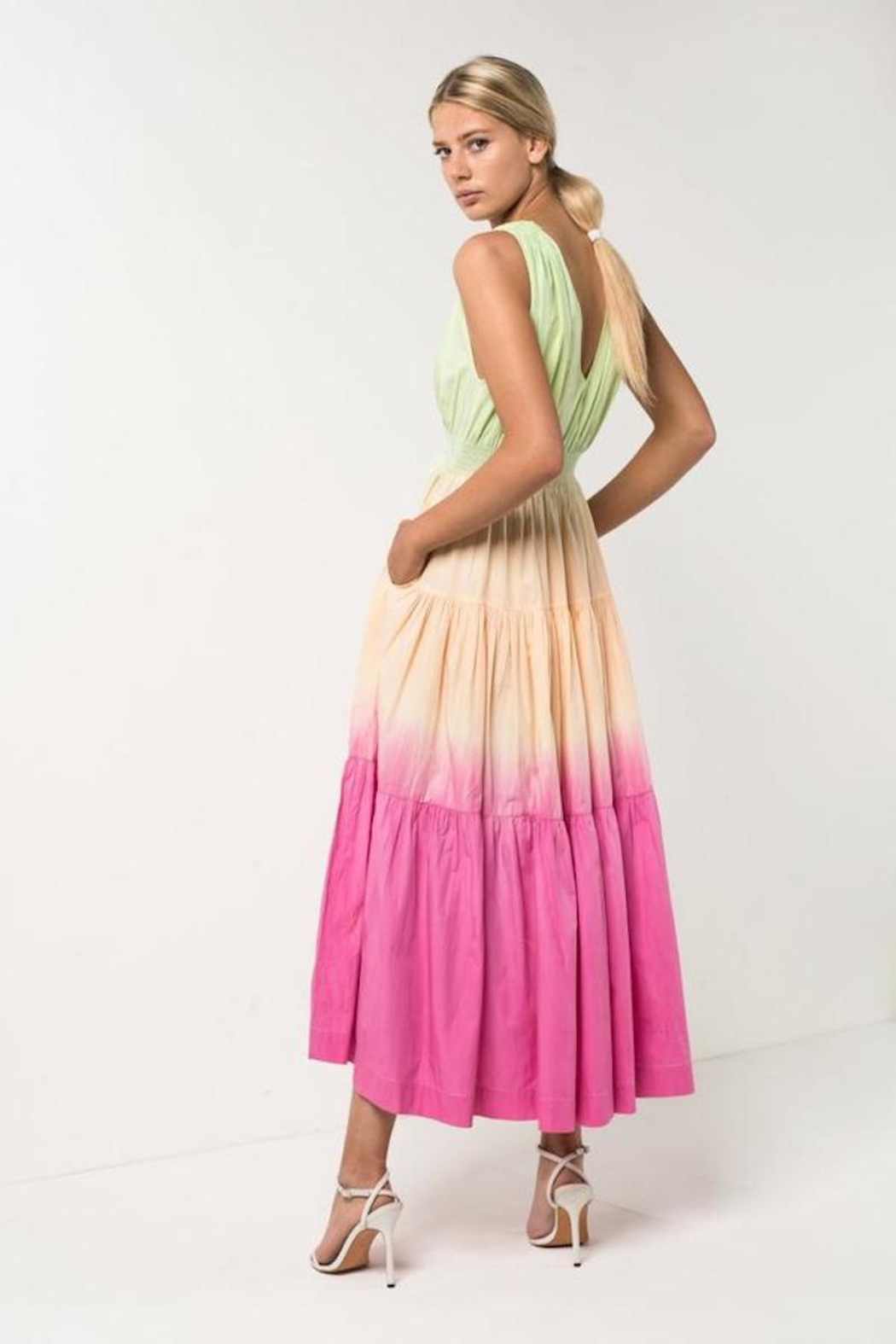 S/W/F Sunset Tiered Dress - Front Full Image