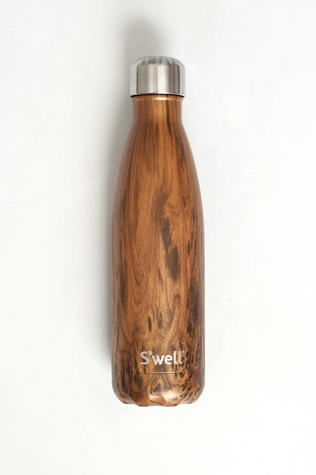 S'well Teakwood Bottle - Front Cropped Image