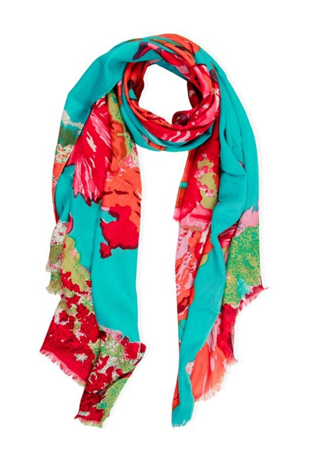 Saachi Abstract Flower Scarf - Main Image