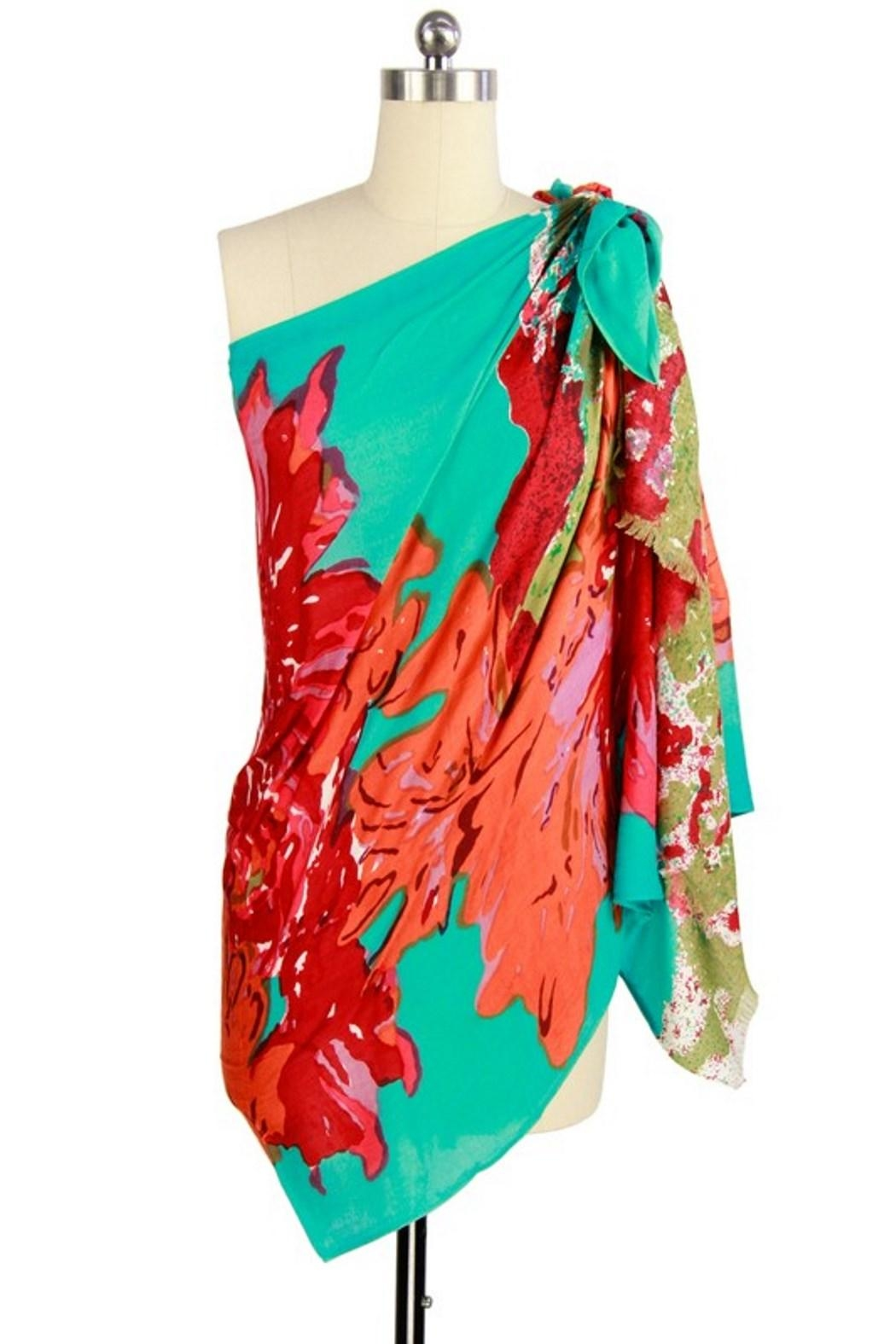 Saachi Abstract Flower Scarf - Front Full Image