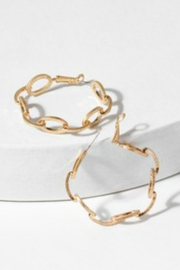 Saachi Chain Hoop Earrings - Product Mini Image