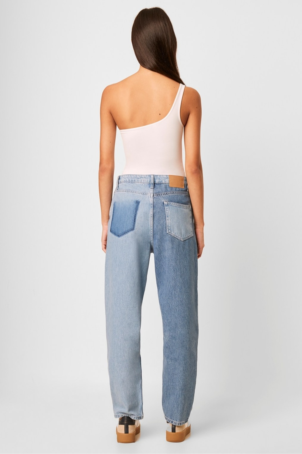 French Connection Saachi Jersey One Shoulder Bodysuit - Side Cropped Image