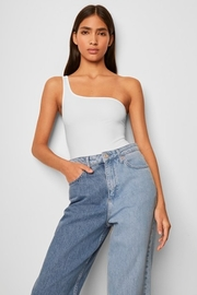 French Connection Saachi Jersey One Shoulder Bodysuit - Product Mini Image