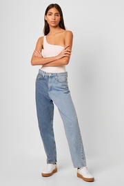 French Connection Saachi Jersey One Shoulder Bodysuit - Front full body