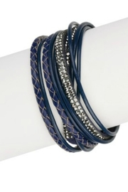 Saachi Leather Rhinestone Bracelt - Product Mini Image