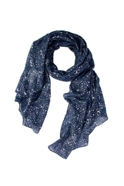 Saachi Silver Sparkle Scarf - Front cropped