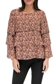 Bobeau Sabine Ruffle-Tiered Blouse - Front cropped