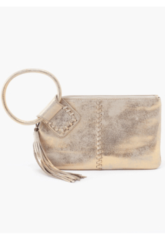 Hobo Sable Gold Leather Clutch Wristlet - Product List Image