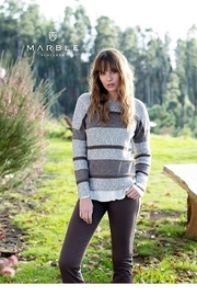 Marble Sable Stripe Sweater - Product Mini Image