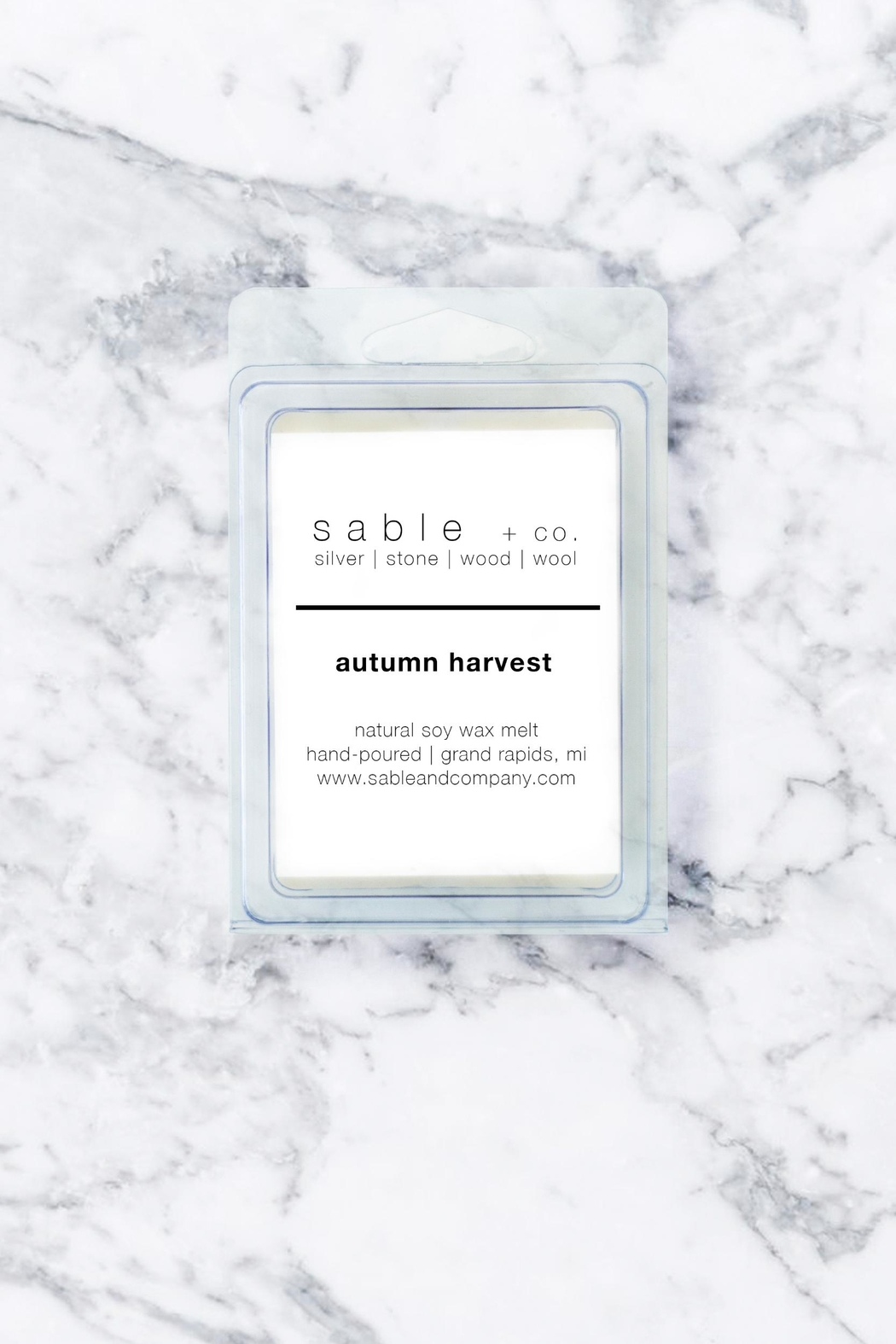 Sable + Company Autumn Harvest Wax Melt - Front Cropped Image