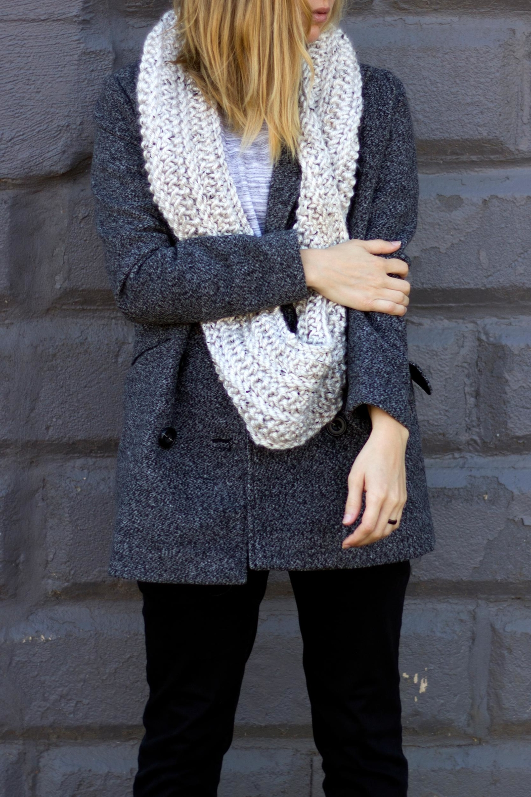 Sable + Company Beige Infinity Scarf - Side Cropped Image