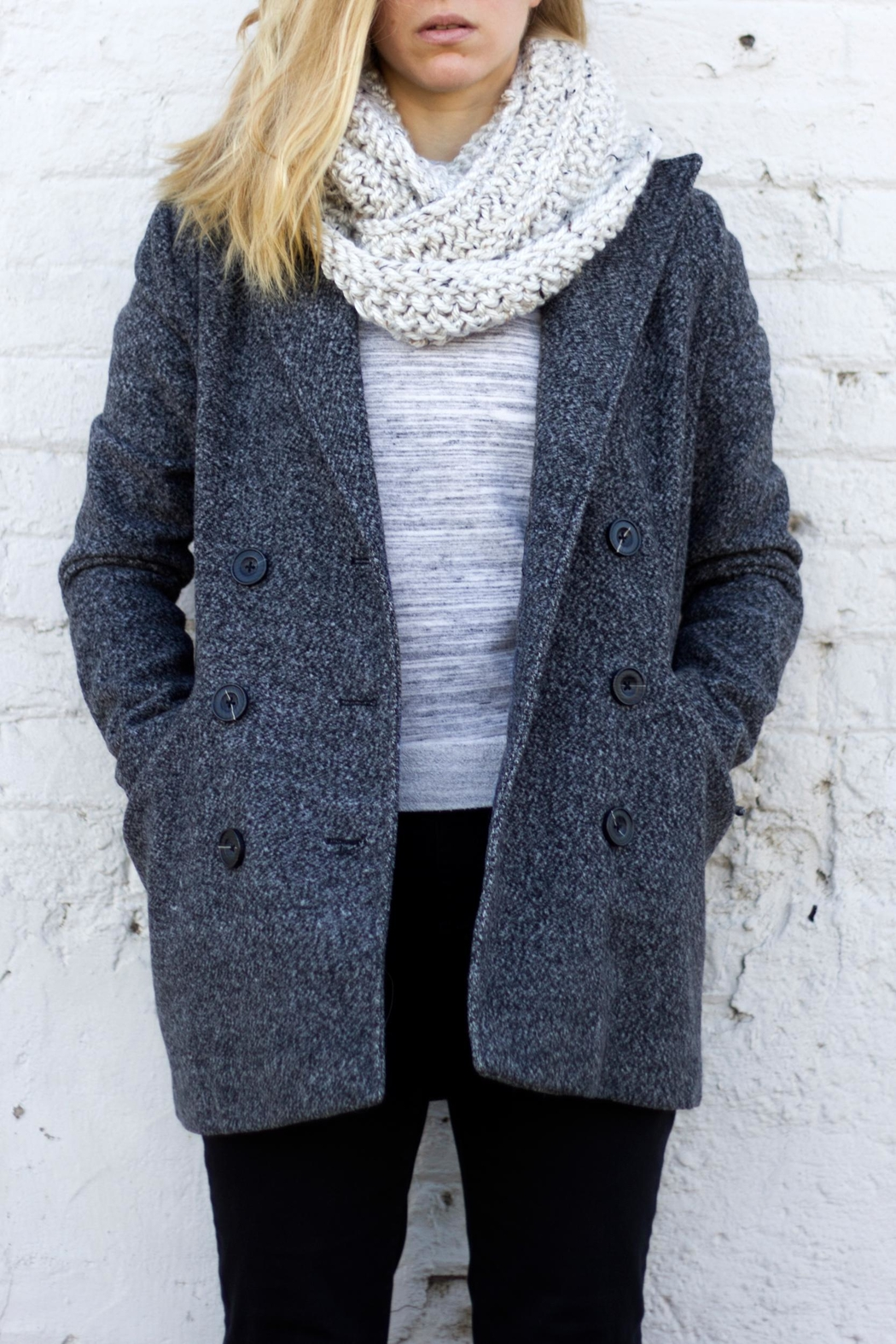 Sable + Company Beige Infinity Scarf - Front Cropped Image