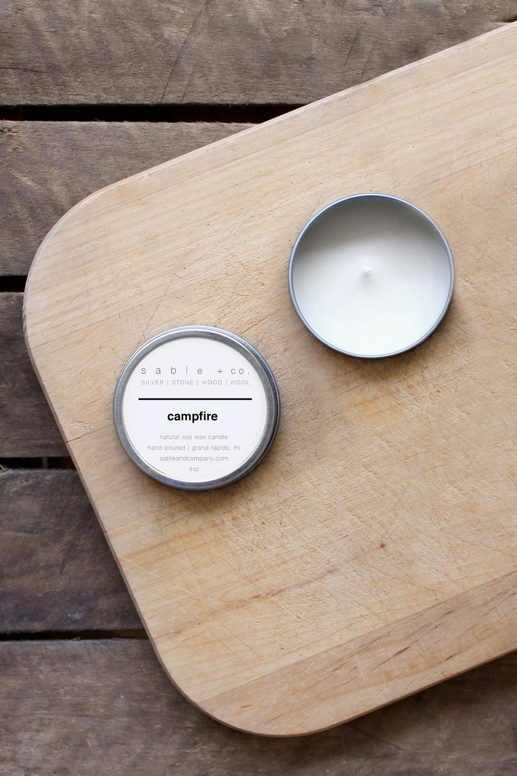 Sable + Company Campfire Candle - Front Full Image
