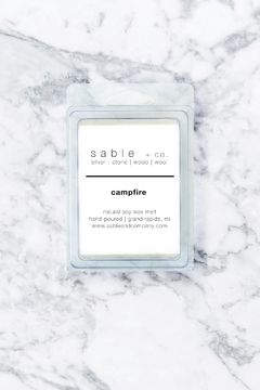 Sable + Company Campfire Waxmelt Scent - Product List Image