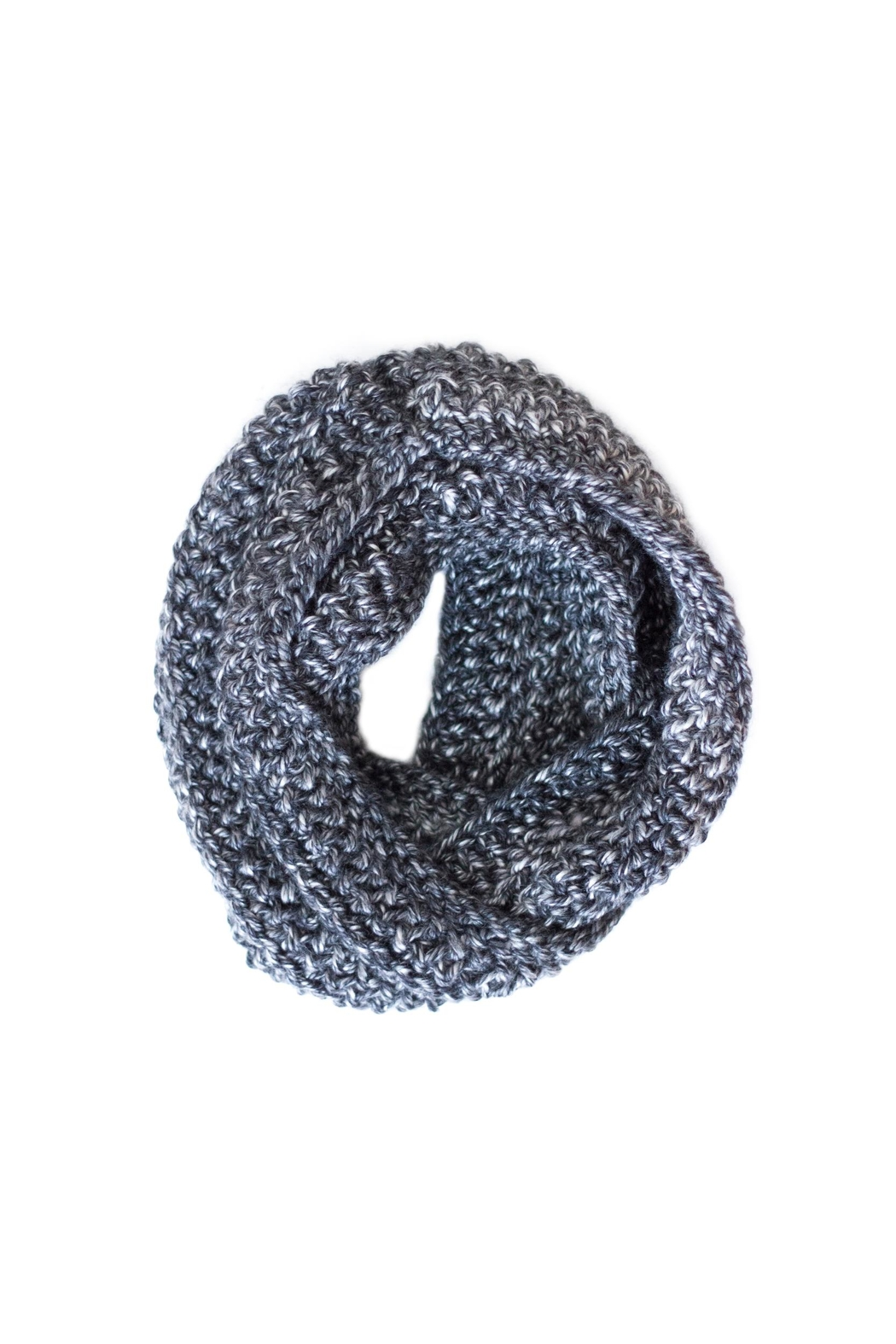 Sable + Company Charcoal Infinity Scarf - Side Cropped Image