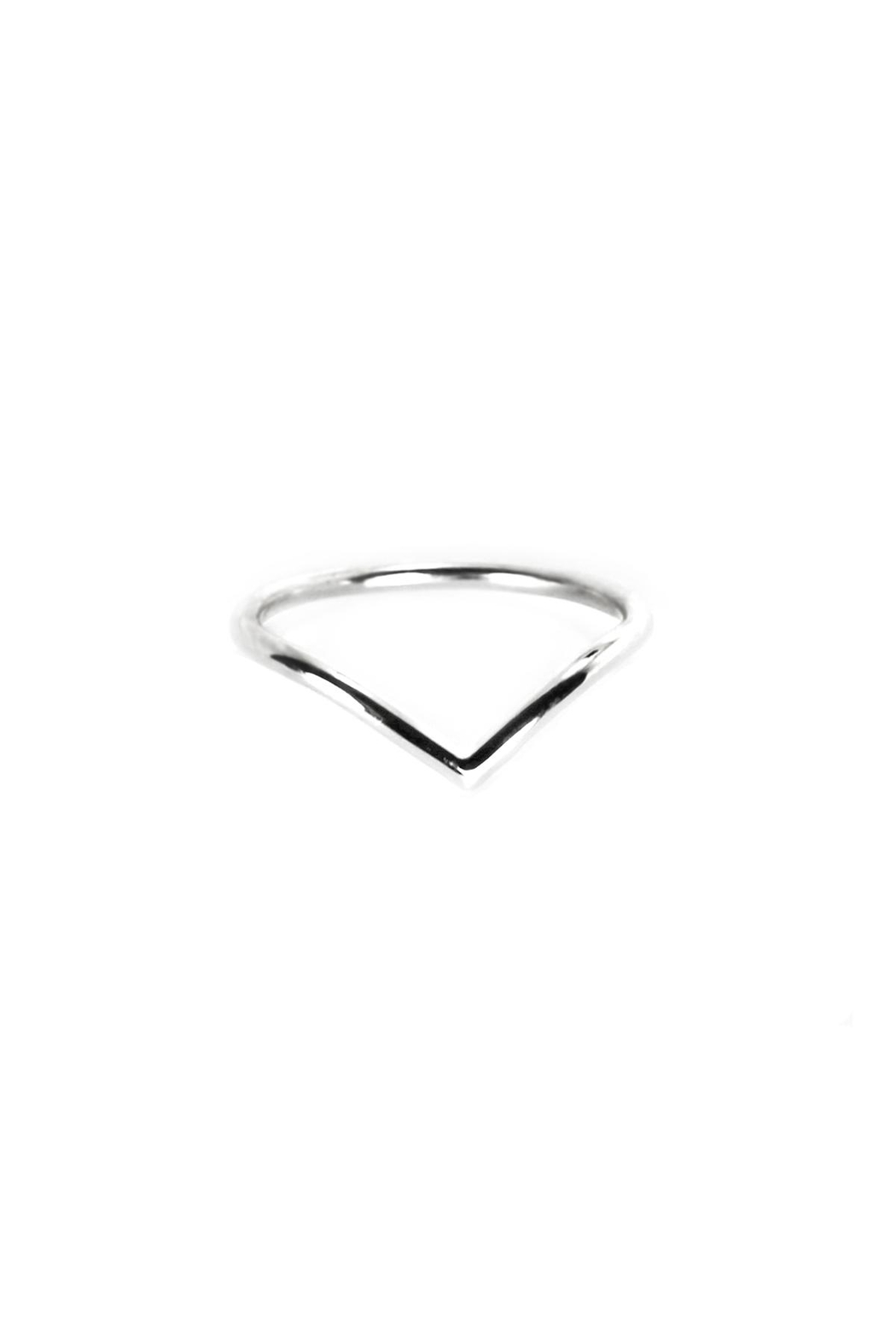 Sable + Company Chevron Ring - Front Cropped Image