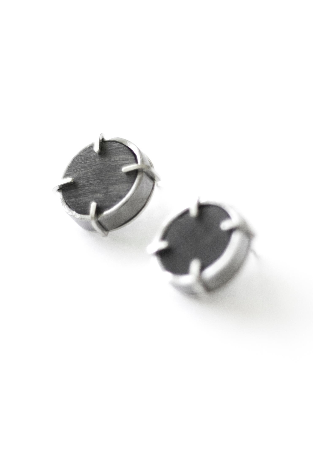 Sable + Company Circle Prong Earrings - Front Full Image