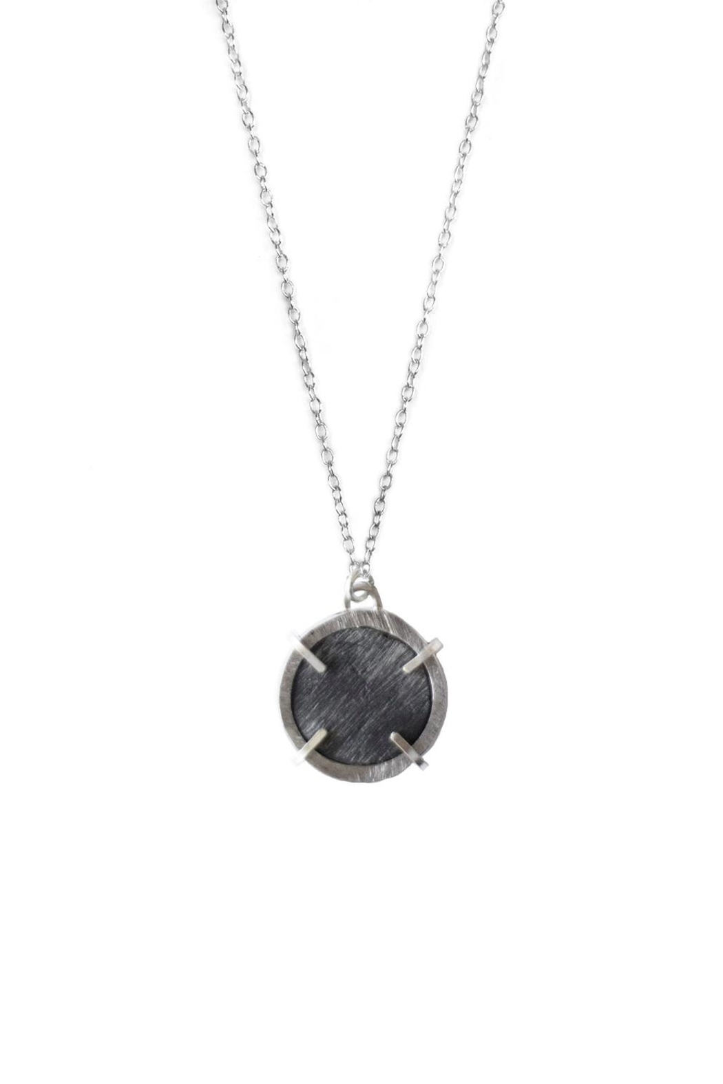 Sable + Company Circle Prong Necklace - Front Cropped Image